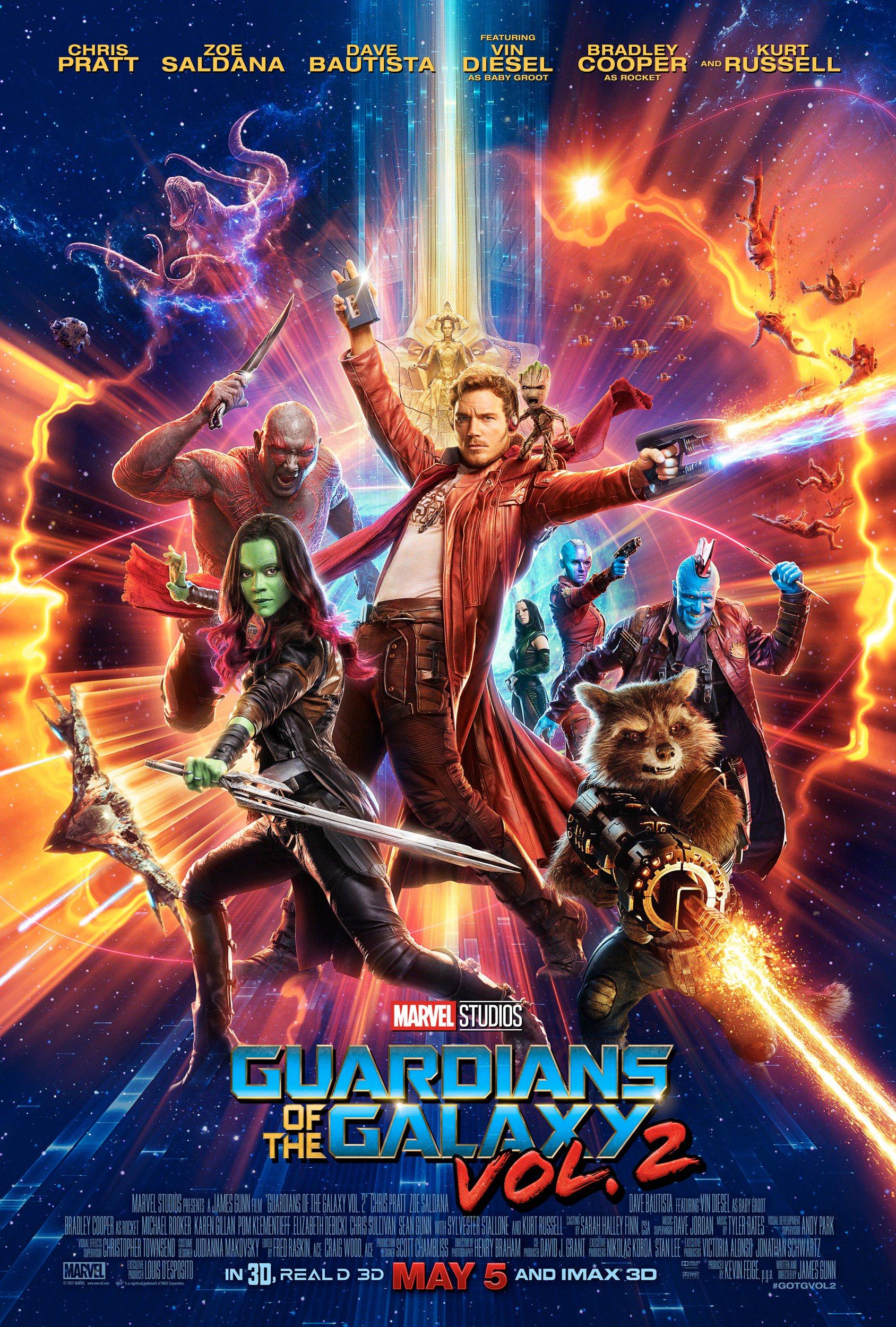 Výsledek obrázku pro strážci galaxie 2 plakát